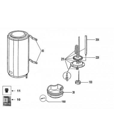 Junkers repuestos calentador for Valvula de seguridad termo electrico