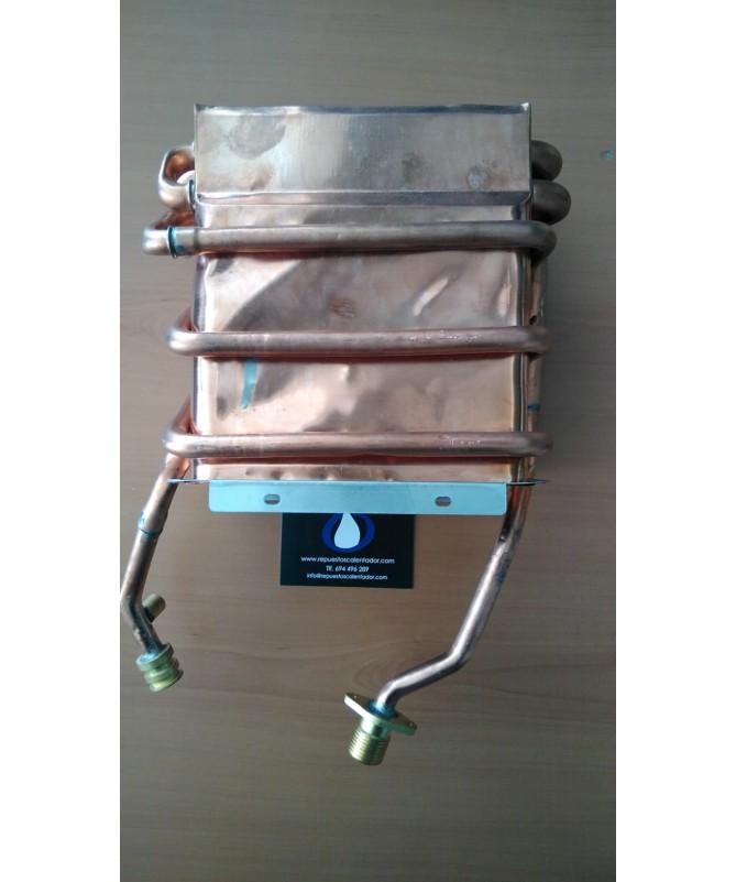 Intercambiador ZEUSVálido para calentador de gas Estaco ZEUS Termostático.