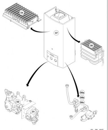 Despiece MAG (camara abierta) - MAG mini 11-0/1 GX  de Vaillant