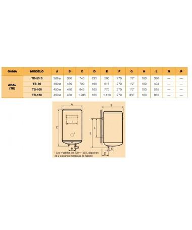 Termo eléctrico Cointra ARAL TB-80