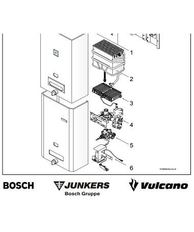 Despiece Junkers W275 ,  W350 y  W400